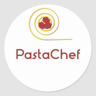 Pasta Chef Classic Round Sticker