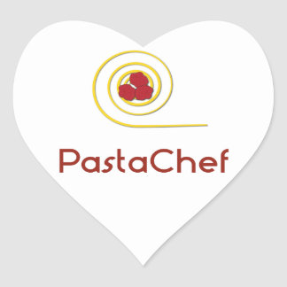 Pasta Chef Heart Sticker