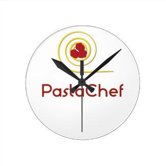 Pasta Chef Round Clock