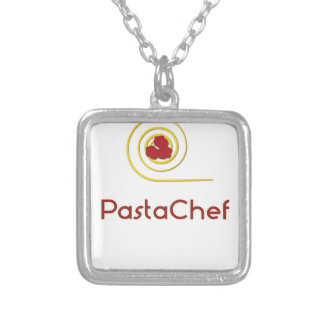 Pasta Chef Silver Plated Necklace
