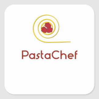 Pasta Chef Square Sticker