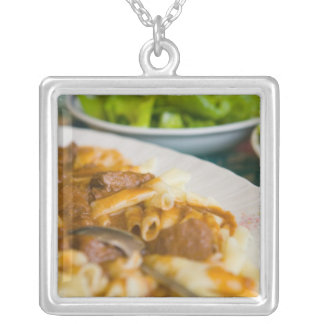 pasta dish, istria, Croatia, eastern Europe, Silver Plated Necklace