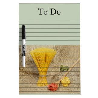 Pasta Dry Erase Board