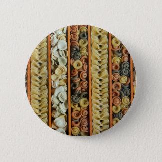 pasta noodles photograph 2 inch round button