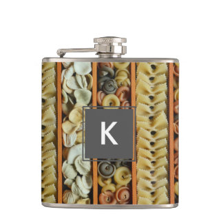 pasta noodles photograph hip flask