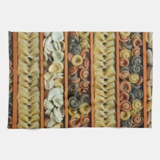 pasta noodles photograph kitchen towel