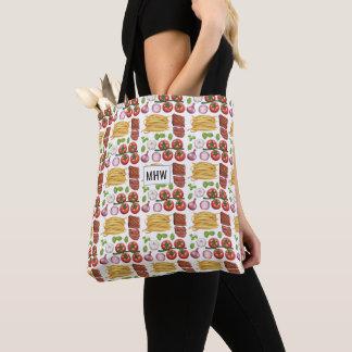 Pasta Pattern custom monogram bags