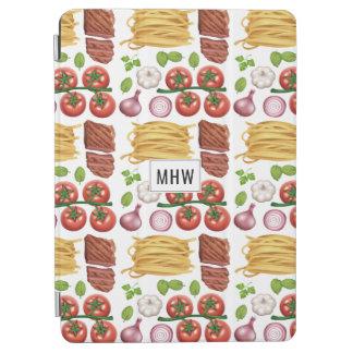 Pasta Pattern custom monogram device covers iPad Air Cover