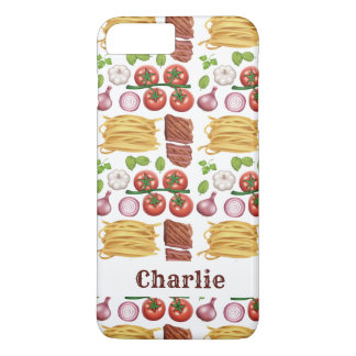 Pasta Pattern custom name phone cases