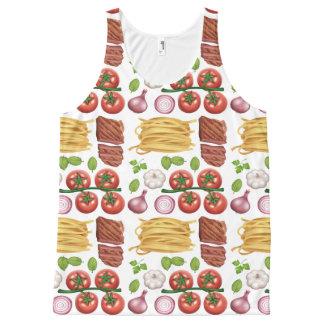 Pasta Pattern tank top
