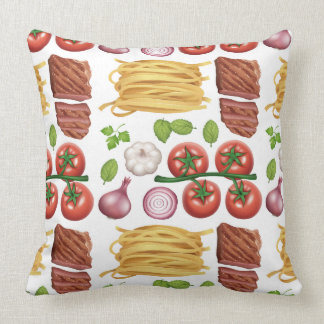 Pasta Pattern throw pillows