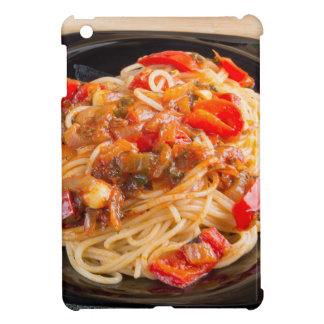 Pasta spaghetti with vegetable sauce cover for the iPad mini