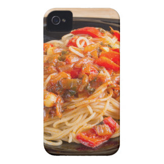 Pasta spaghetti with vegetable sauce iPhone 4 Case-Mate cases
