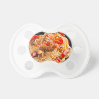 Pasta spaghetti with vegetable sauce pacifiers