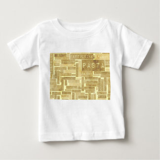 Pasta Types and Assorted Variety of Pastas Baby T-Shirt
