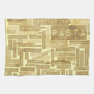 Pasta Types and Assorted Variety of Pastas Hand Towels