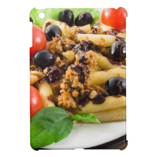 Pasta with bolognese sauce, beef meat, olives iPad mini covers