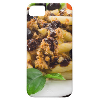 Pasta with bolognese sauce, beef meat, olives iPhone 5 case