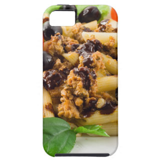 Pasta with bolognese sauce, beef meat, olives iPhone 5 covers