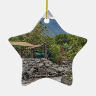 Pastaza River and Leafy Mountains in Banos Ecuador Ceramic Star Ornament