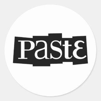 Paste Block Logo Black Round Sticker