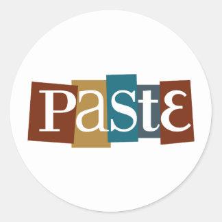 Paste Block Logo Colour Round Sticker
