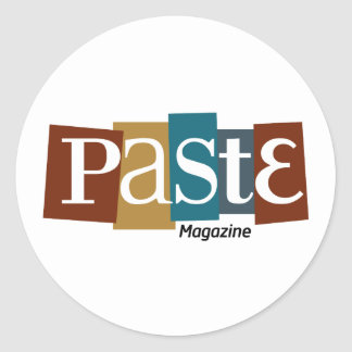 Paste Block Logo Magazine Color Round Sticker