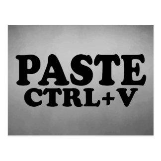 PASTE Ctrl+V Twins Postcard