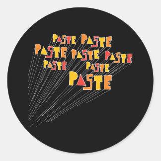 Paste Hand Drawn Logo Array Sticker