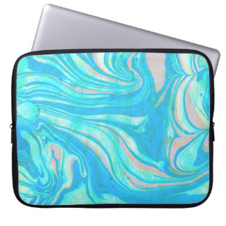 Paste Tones Watercolor Marble Stone Laptop Sleeve