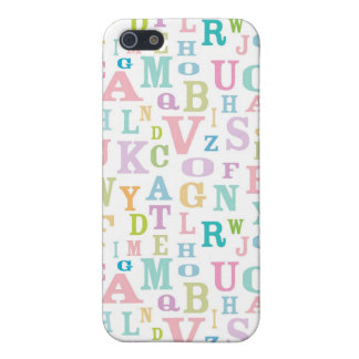 Pastel ABC's Pattern iPhone4 Case Case For iPhone 5/5S