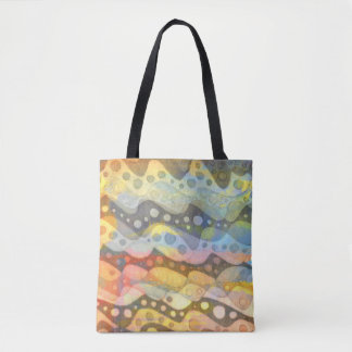 Pastel Abstract Art in Many Colors Tote Bag