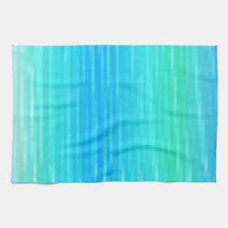 Pastel Abstract Art Teal Turquoise Blue Green Kitchen Towel