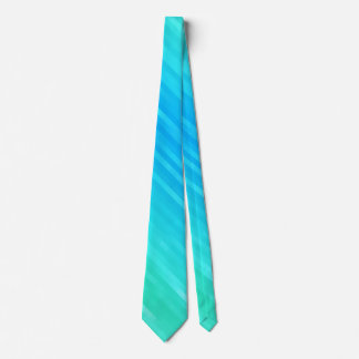 Pastel Abstract Art Teal Turquoise Blue Green Tie