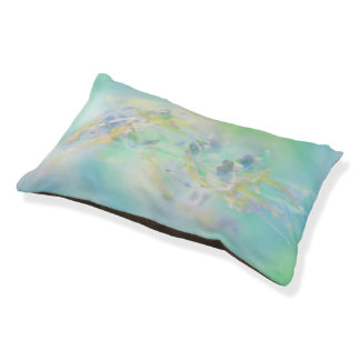 Pastel Abstract Floral Small Dog Bed