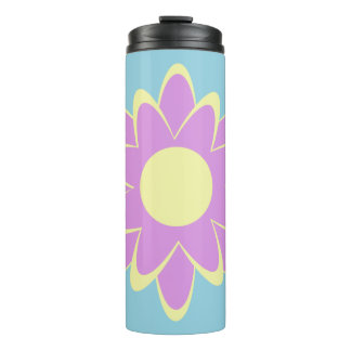 Pastel Abstract Flower Thermal Tumbler