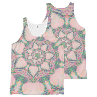 Pastel abstract spiral All-Over-Print tank top
