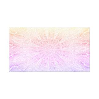 Pastel Abstract Star Flower Design Canvas Print