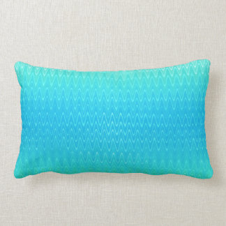 Pastel Abstract Turquoise Blue Green Pattern Lumbar Pillow