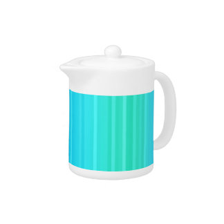 Pastel Abstract Turquoise Blue Green Stripes