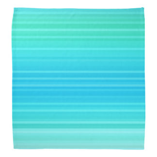 Pastel Abstract Turquoise Blue Green Stripes Bandana