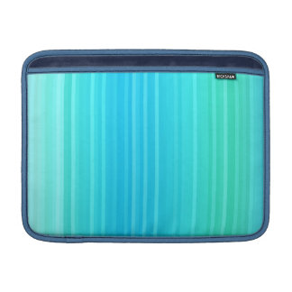 Pastel Abstract Turquoise Blue Green Stripes MacBook Sleeve