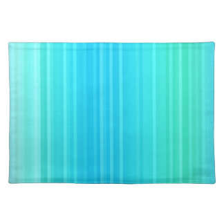 Pastel Abstract Turquoise Blue Green Stripes Placemat
