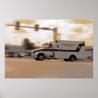 Pastel Ambulance C Poster