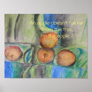 pastel apples by artist Elizaveta Limanova (me) Poster