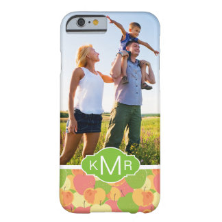 Pastel Apples Pattern | Add Your Photo Barely There iPhone 6 Case