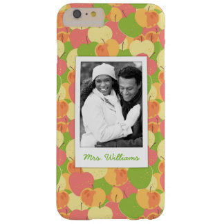 Pastel Apples Pattern | Add Your Photo Barely There iPhone 6 Plus Case