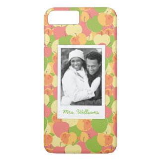 Pastel Apples Pattern | Add Your Photo iPhone 8 Plus/7 Plus Case