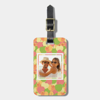 Pastel Apples Pattern | Add Your Photo Luggage Tag