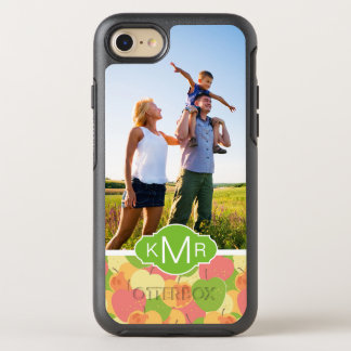 Pastel Apples Pattern | Add Your Photo OtterBox Symmetry iPhone 8/7 Case
